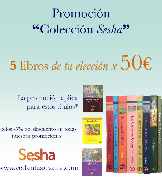 Promoción Colección Sesha 5 libros de tu elección